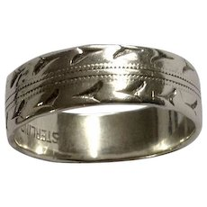 Sterling Silver Hand Made Finger Ring Size 6-1/2