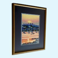 Parker, Sunset Over Bay Signed Limited Edition Textured Print