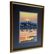 Parker, Sunset Over Bay Signed Limited Edition Textured Print Signed By Artist