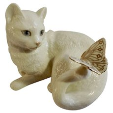 Enchantment Lenox Kitty Cat with Butterfly Fine Porcelain Figurine