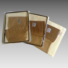 Vintage Seamed Belle-Sharmeer Silk Stockings Pantyhose Size Brev 9-1/2 From Furchgott's Dept. Store