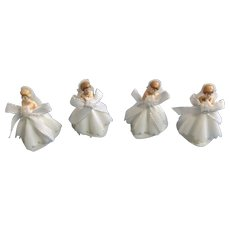Vintage Bride Cake Toppers Heart Shaped Bottom Hong Kong Plastic Figurines