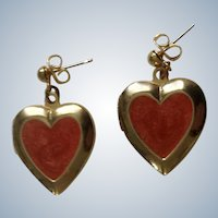 Gold-Tone Heart Locket Stud Post Earrings For Pierced Ears Costume Jewelry