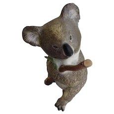 Koala Bear with Ladybug Eva Dalberg 1983 Franklin Porcelain Made in Malaysia Figurine