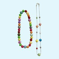 Eccentric Multicolored Beaded Necklace Set