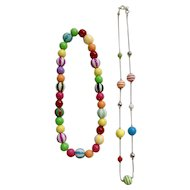 Eccentric Multicolored Beaded Necklace Set