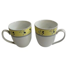 Royal Doulton Blueberry Sets of Two Coffee Mugs Ceramic New In Box NIB Multiples Available