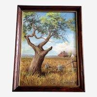 Bonnie Johnson, Old Apple Tree Acrylic Painting 1972