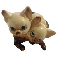 Josef Originals Siamese Kitten Cats Animals Ceramic Figurine Japan