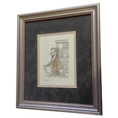Susan (Sue) A. Rupp (1959-2008), Hunny Bunny, Anthropomorphic Bunny Rabbit Bear With Honey Signed Limited Edition Print Signed by Artist
