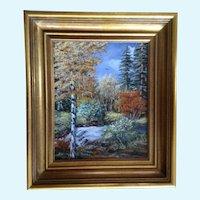 Vaneta Diller, 'Rainbow Stream' Landscape Oil Painting By Colorado Artist