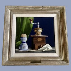 Don Hedin Trompe L'oeil Realist Still Life Oil Painting Listed Artist