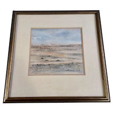 Anna-Marie Bands, Original Landscape Watercolor Painting Signed by South Africa Artist