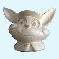 Vintage Smiling Bunny Rabbit Vase Planter Art Pottery