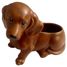 Napco Sad Eye Dachshund Doxin Puppy Weiner Dog Figurine Planter Vase #6717