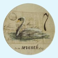Twelve Days of Christmas Salad, Dessert Plate Day 7 Swans A-Swimming