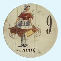 Twelve Days of Christmas Salad or Dessert Plate Day 9  Ladies Dancing