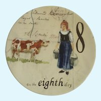 Twelve Days of Christmas Salad, Dessert Plate Day 8 Maids A-Milking