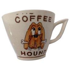 Vintage Coffee Hound Mug Dog With a Bone From the Circa 1940's