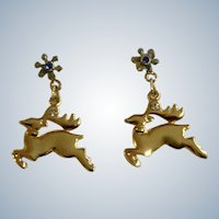 Christmas Reindeer KC Jewelry Stud Post Earrings