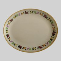 """Franciscan Ware Small Fruit 12"""" Oval Serving Platter California Pottery"""
