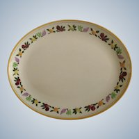 """Franciscan Ware Small Fruit 12"""" Oval Serving Platter Plate California Pottery"""