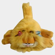 1990 Garfield The Cat Blow Dry Spring Edition, Jim Davis Plush Stuffed Animal By Dankin with Original Tag