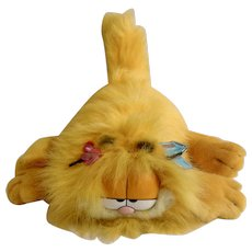 1990 Garfield The Cat Blow Dry Spring Edition, Jim Davis Plush Stuffed Animal By Dankin with Original Tag