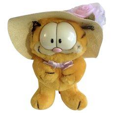 1981 Garfield The Cat Easter Bonnet 13-7360 Jim Davis Plush Stuffed Animal Cat By Dankin with Original Tag