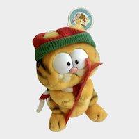 1981 Garfield The Cat Skier Jim Davis Plush Stuffed Animal