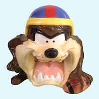 Taz Cookie Jar Football Player Tasmanian Devil Warner Bros. Looney Tunes