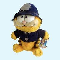 1981 Garfield The Cat Policeman Bobby, Flatfoot #03-7350 Plush Stuffed Animal