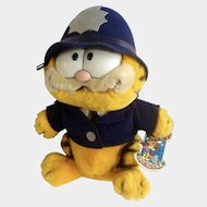 1981 Garfield The Cat Policeman Bobby, Flatfoot #03-7350 Jim Davis Plush Stuffed Animal By Dankin with Original Tag