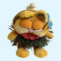 1981 Garfield The Cat Hawaii Hula Skirt #32-0990 Plush Stuffed Animal By Dankin