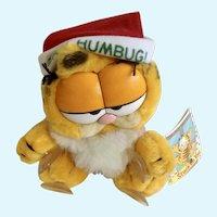 Vintage Garfield The Christmas Stuck On You, Bah Humbug #15-4180 Plush Stuffed Animal