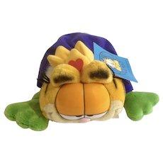 1981 Garfield The Cat King Crown, Frog Prince Very Rare #14239 Jim Davis Plush Stuffed Animal By Dankin with Original Tag