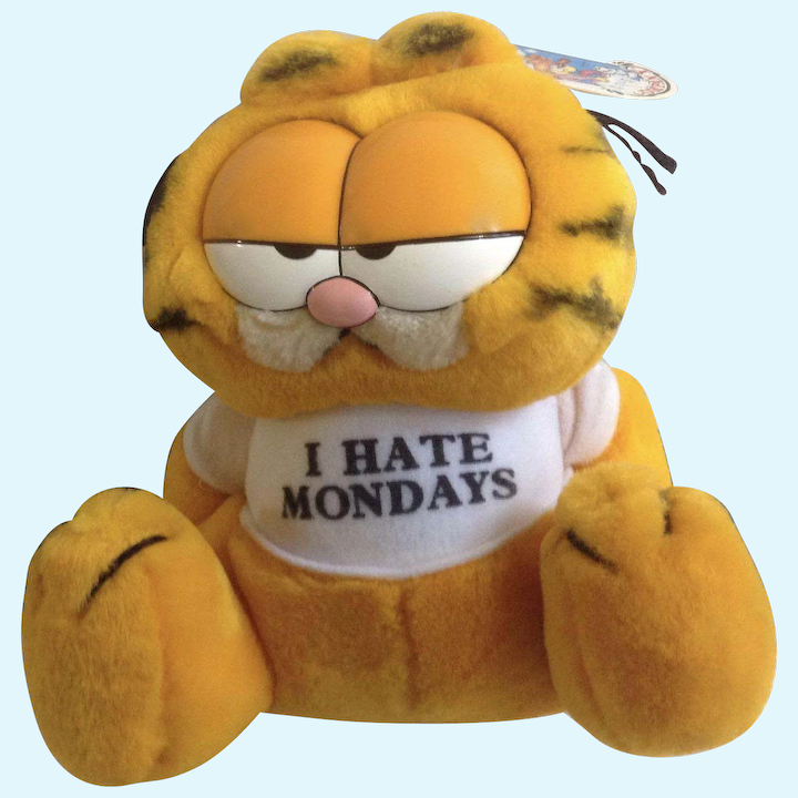Hold For Kb Only 1981 Garfield The Cat I Hate Mondays 03 7420 Jim Gumgumfuninthesun Ruby Lane