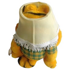 1981 Garfield The Cat Hiding In Lampshade, Born To Party #03-7490 Jim Davis Plush Stuffed Animal By Dankin with Original Tag