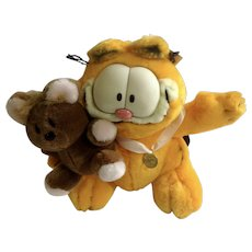 1978 Garfield The Cat and Pooky Best Friends, Special Edition 20 Years of Garfield Jim Davis Plush Stuffed Animal By Paws with Original Tag