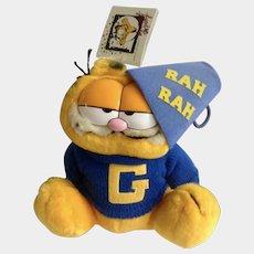 1981 Garfield The Cat Cheer Leader Back To School #03-8700 Jim Davis Plush Stuffed Animal By Dankin with Original Tag