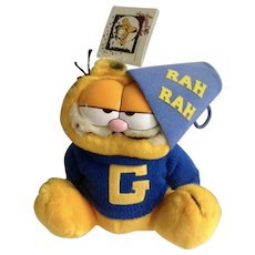 1981 Garfield The Cat Cheer Leader Back To School #03-8700 Jim Davis Plush Stuffed Animal By Dankin with Original Tag