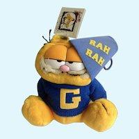 Vintage Garfield The Cat Cheer Leader Back To School Jim Davis Plush Stuffed Animal