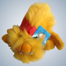 1981 Garfield The Cat Blow Dry Kitty Medium I'm Yours #03-4000 Jim Davis Plush Stuffed Animal By Dankin with Original Tag