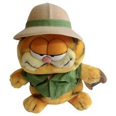 1981 Garfield The Cat On Safari Plush Stuffed Animal