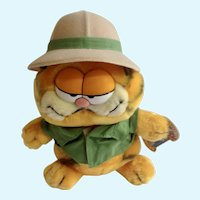 1981 Garfield The Cat On Safari #03-7280 Plush Stuffed Animal