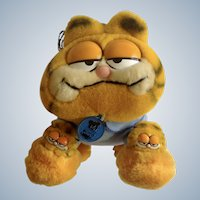 Garfield The Cat Bed Time Pajama My Favorite Slippers #31-0916 Jim Davis 1981 Plush Stuffed Animal By Dankin with Original Tag