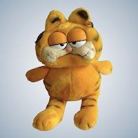 1981 Garfield The Fat Cat, Jim Davis Plush Stuffed Animal By Dankin
