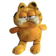 1981 Garfield The Fat Cat, Jim Davis Plush Stuffed Animal By Dankin