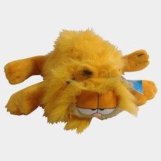 1981 Garfield The Cat Blown Dry Fluffy Kitty, Body Hand Puppet #03-3930 Jim Davis Plush Stuffed Animal By Dankin with Original Tag