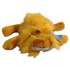 1981 Garfield The Cat Blown Dry Fluffy Kitty, Body Hand Puppet #03-3930 Jim Davis Plush Stuffed Animal By Dankin with Original Tag
